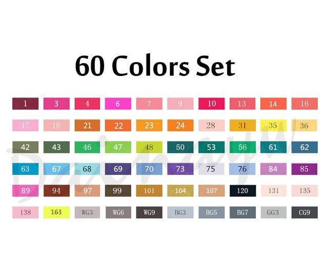 60 colors set