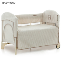 2020 Kids Sleeping Baby Beds High Quality cotton Baby Game Bed Joint With Mum Newborn Send Bumpers