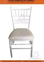 Weiß große aluminium Chiavari hochzeit stuhl