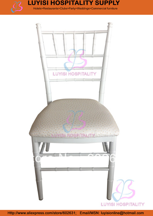 White Big Aluminum Chiavari Wedding Chair