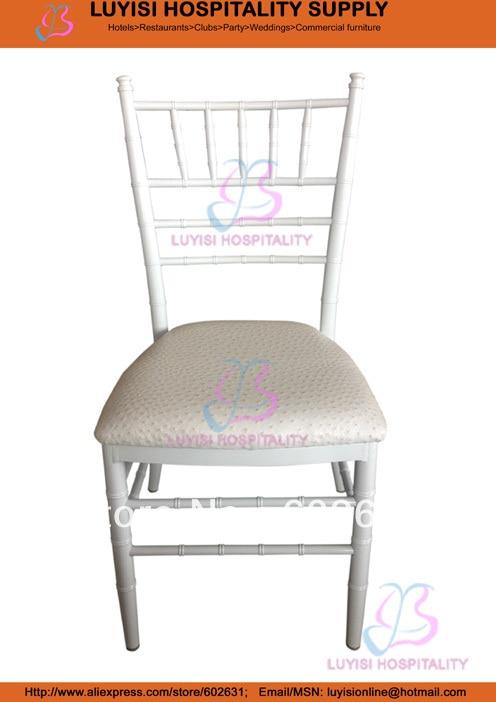 White big aluminum Chiavari wedding chairWhite big aluminum Chiavari wedding chair