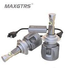 2x רכב LED פנס H7 H4 LED H8/H11 HB3/9005 HB4/9006 H1 9012 D1 D2 d3 D4 120W 12000lm אוטומטי הנורה פנס אתי שבב 6000K אור