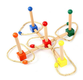New Baby Montessori Throwing Circle Increase Hand and Eye Coordination Early Childhood Education Preschool Training Learning baby toy kids montessori fish puzzle animal panel toys for children wooden early childhood education preschool training learning