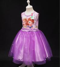 Sofia Princess Dress For Summer Party Baby Girls Fashion Costume