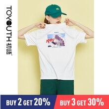 Toyouth Women Hot Sale Summer Naughty 3D T shirt Lovely Cartoon Tshirt Original Brand Shirts Casual Tops
