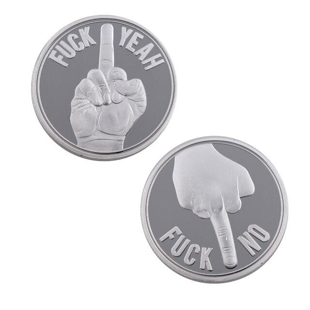 Regalos de Festival 999,9 moneda de Metal chapada en plata estadounidense sí o NO monedas de artesanías de Metal coleccionables adornos de árbol de Navidad