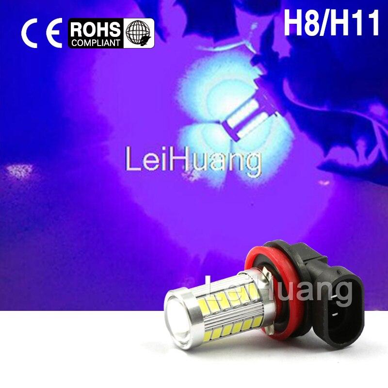 2X H11 H8 Led High Power 5730 33 LED led car Fog lamp blue