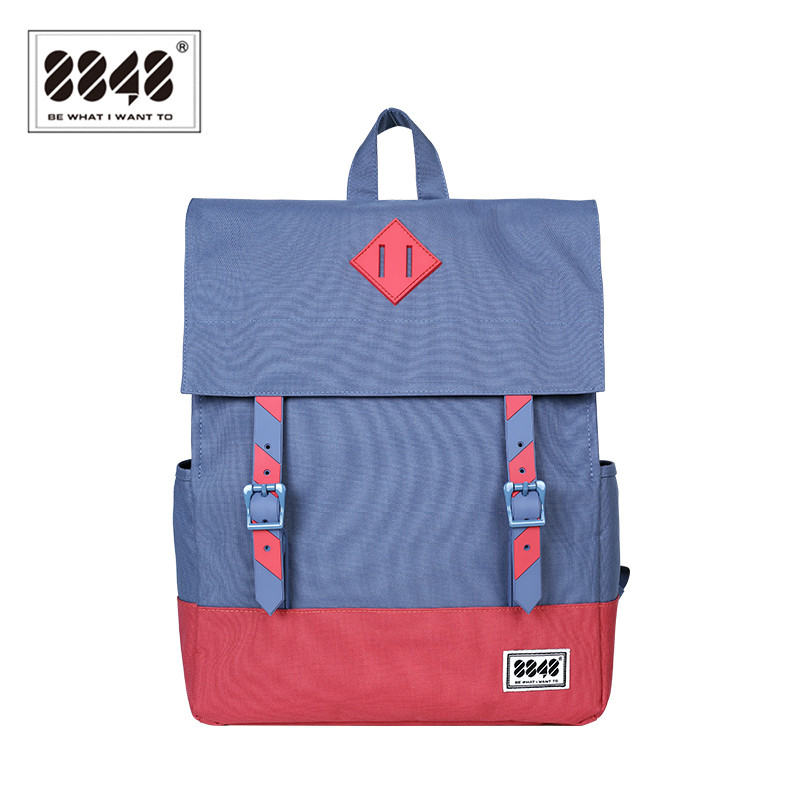 8848 Brand Women Backpacks Preppy Style New Fashion Style 15.6 Inch Computer Backpack Soft Back Big Capacity Casual 173-002-012 korea style fashion backpacks for men and women waterproof preppy style soft backpack unisex school bags big capacity bag xa893b