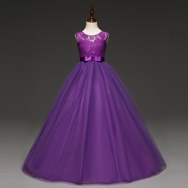 Princess Girl Purple Gowns Dress Kids Party Dresses For Girls ...