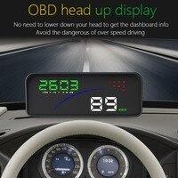 Universal Car Smart Digital Meter Head Up Display Car HUD Dual Display Car Windshield Projector Car Digital Speedometer