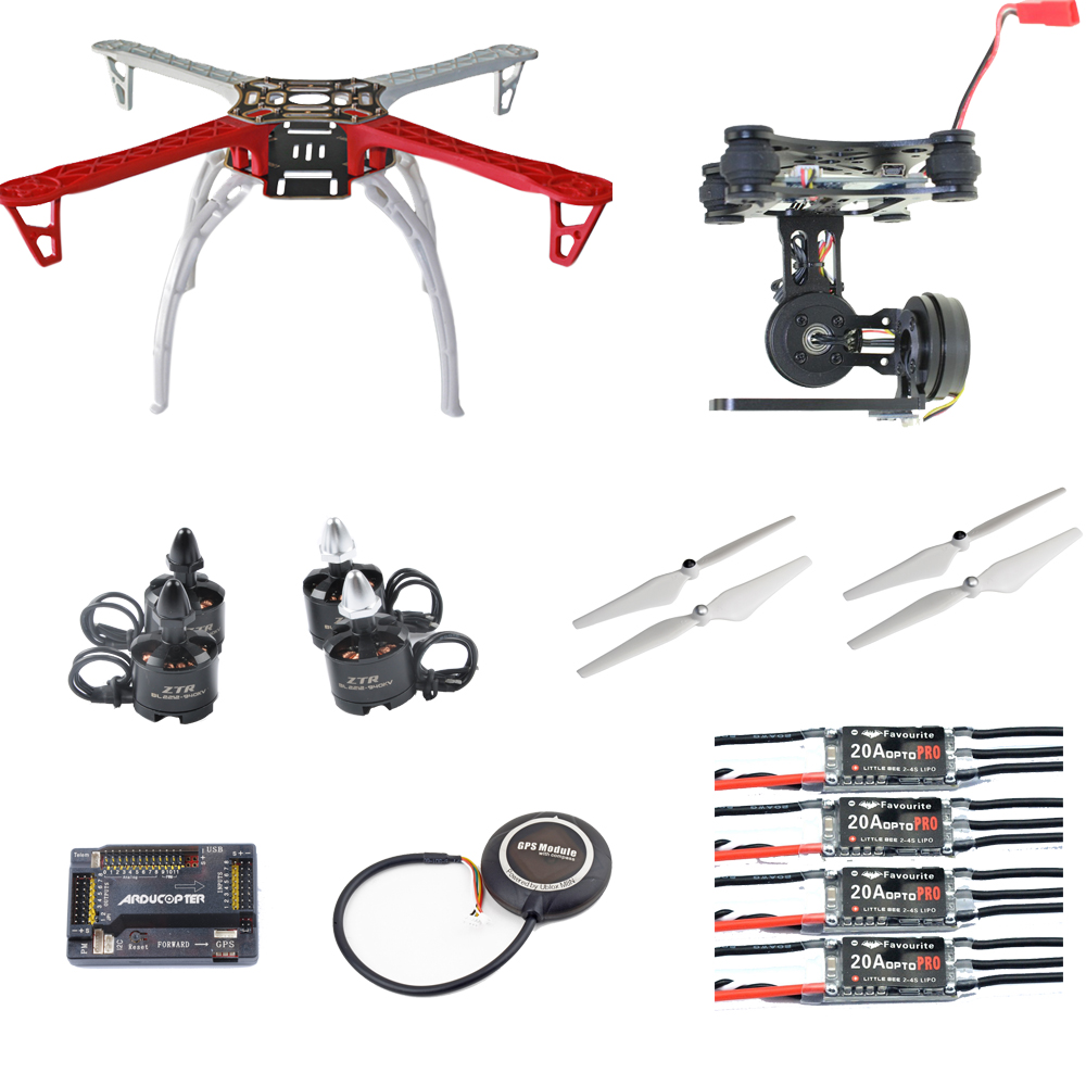 DIY F450 FPV Quadcopter Drone kit 2212 940KV Motor 20A Littlebee ESC APM2.8 FC M8N GPS  2 Axis Gimbal 9045 Pro Return Home f04305 sim900 gprs gsm development board kit quad band module for diy rc quadcopter drone fpv