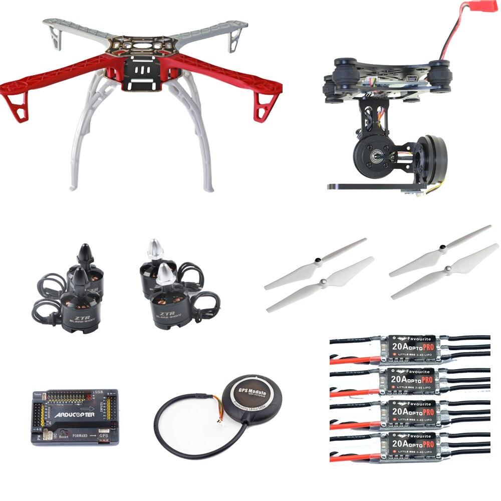 DIY F450 FPV Quadcopter Drone kit 2212 940KV Motor 20A Littlebee ESC APM2.8 FC M8N GPS 2 Axis Gimbal 9045 Pro Return Home