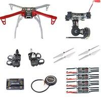 DIY F450 FPV системы Quadcopter Drone Kit 2212 940kv Двигатель 20A Пчелка ESC apm2.8 FC m8n GPS 2 оси Gimbal 9045 pro возвращении домой