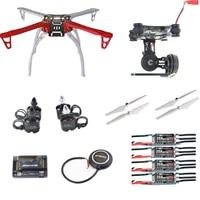 DIY F450 FPV Quadcopter Drone kit 2212 940KV Motor 20A Littlebee ESC APM2.8 FC M8N GPS 2 Axis Gimbal 9045 Pro Terugkeer thuis