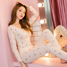Купить с кэшбэком Bejirog nightdress pajamas set for women black nightwear plus velvet size in winter sleepwear cotton lace nightie female pyjamas