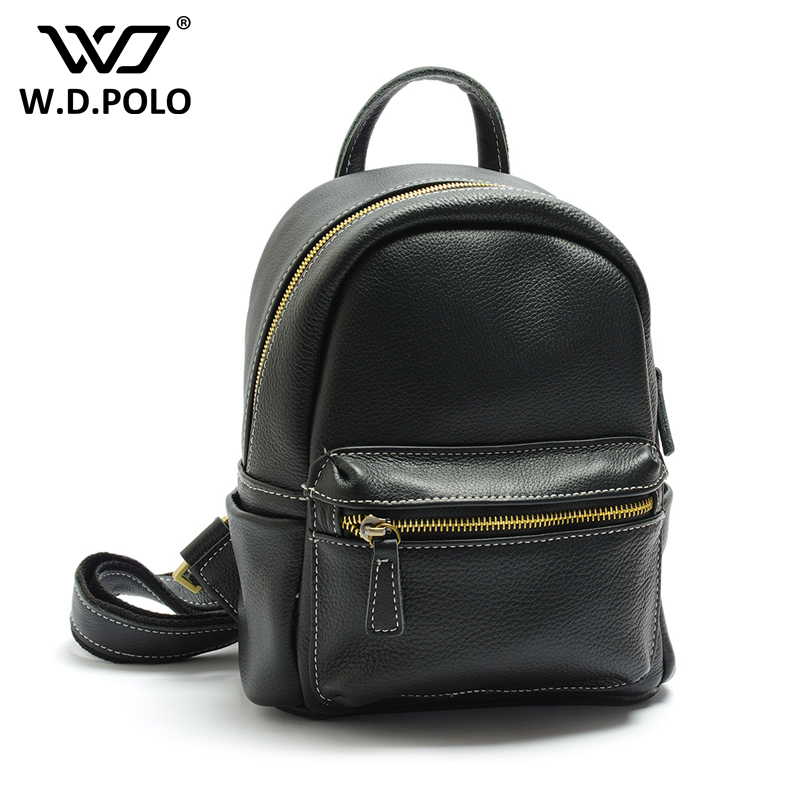 WDPOLO new Women's Backpacks Genuine Leather Female Backpack Women Schoolbag For Girls Large Capacity Shoulder Travel bags C280