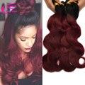 Ломбер 1b 99j теле волна 4 шт. много, Черный и бордовый бразильские волосы два тона 99j бразильские волосы красные человеческих волос