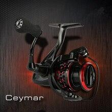 OKUMA Ceymar 5000 S Mar Carrete 8BB Relación 4.5: 1 Drag Max potencia 8Kg Saltwarter Metal Hilado Carrete de Pesca Carrete de Pesca de La Carpa bobina