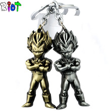 Anime Dragon Ball Z Super Saiyan Metal Keychain Pendant Key Chain Chaveiro Key Ring with retail box