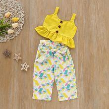 Летняя детская одежда для девочек; Новинка; жилетка без рукавов;