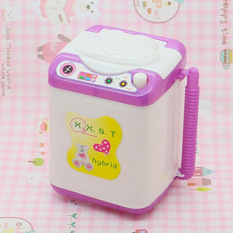 Small Washing Machine For Barbie Sweet Gift For Kelly Fashion Girl Doll's Accessories