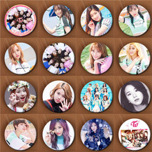 Youpop KPOP Korean TWICE Third Mini Album TWICEcoaster LANE1 58mm Round Badge Pins And Brooches For Clothes Hat Backpack(China)