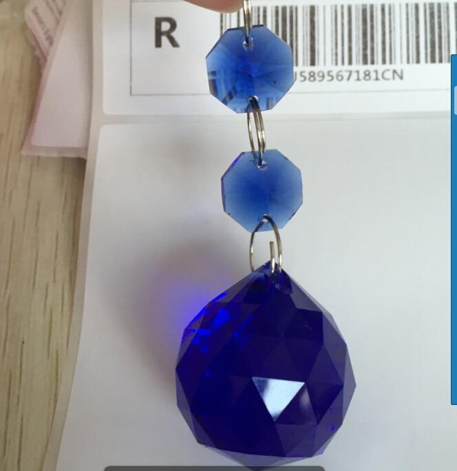 10pcslot 30mm sapphire color crystal chandelier prism ball with 10pcslot 30mm sapphire color crystal chandelier prism ball with 14mm octagon crystal suncatcher in chandelier crystal from lights lighting on aloadofball Images