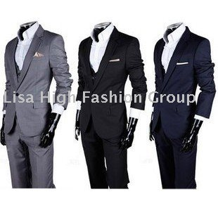 Hot Sale Men's Suit/ Men's Casual Slim fit Skinny business suits ...