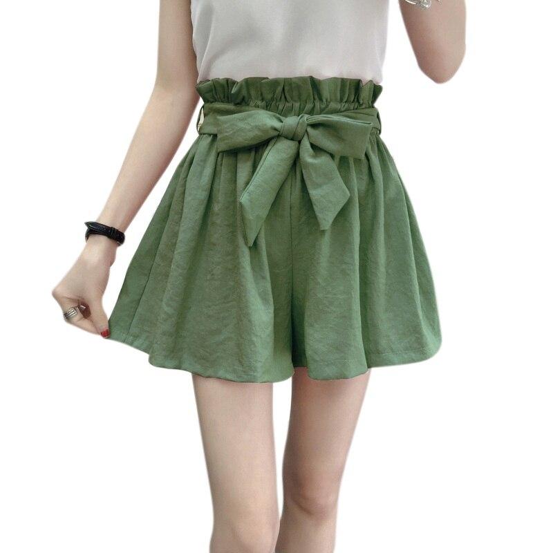 EFINNY Women Fashion Summer Wide Legs Shorts Casual Shorts Beach High Waist Short