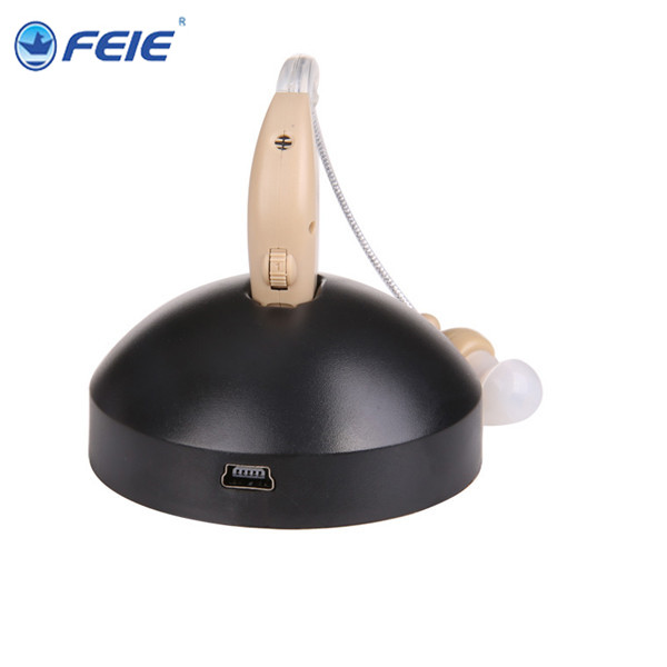 10 PCS mini rechargeable bte ear hearing aid device amplifier digital hearing aids in the ear for gift price S-108 feie mini rechargeable hearing aid usb charger computer ajustable tone ear listen device s 109s drop shipping