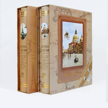 Random Color 4D/6 Inch 200 Pocket Vintage Big Photo Album Picture Case Wedding Family Scrapbook Collection E