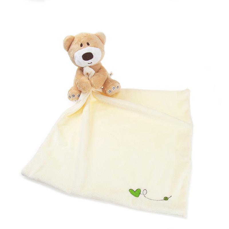 Newborn Cute Soft Bear Baby Hand Towel Infant Reure Kids Velvet Towels Care Product