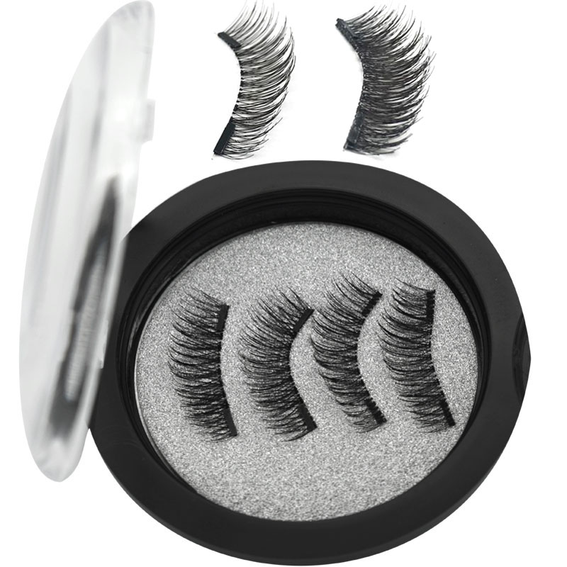 WQZL Magnetic Eyelashes With 2 Magnets Handmade 3D/6D Magnetic Lashes Natural False Eyelashes Magnet Lashes24P