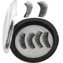 WQZL Magnetic eyelashes with 2 magnets handmade 3D/6D magnetic lashes natural false magnet lashes24P