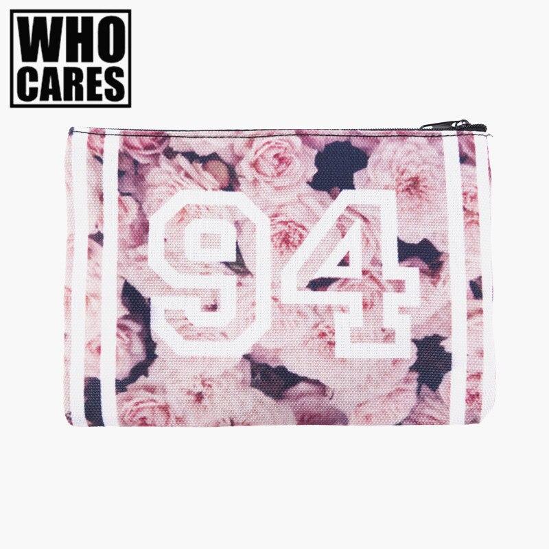 vintage roses pink 3D Printing cosmetic bags 2016 new trousse de maquillage makeup bag neceser maleta de maquiagem necessaire