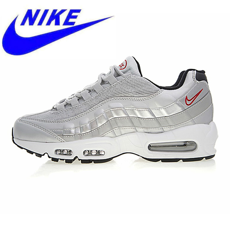 factory authentic f661e 4e032 Breathable NIKE AIR MAX 95 PREMIUM QS Men s and Women sRunning Shoes,  Silver,Shock Absorption Wear-resistant Non-slip 918359 001