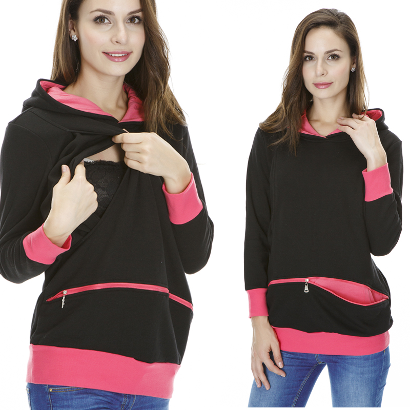 Maternity Clothes Hoodies Breast feeding Clothes N...