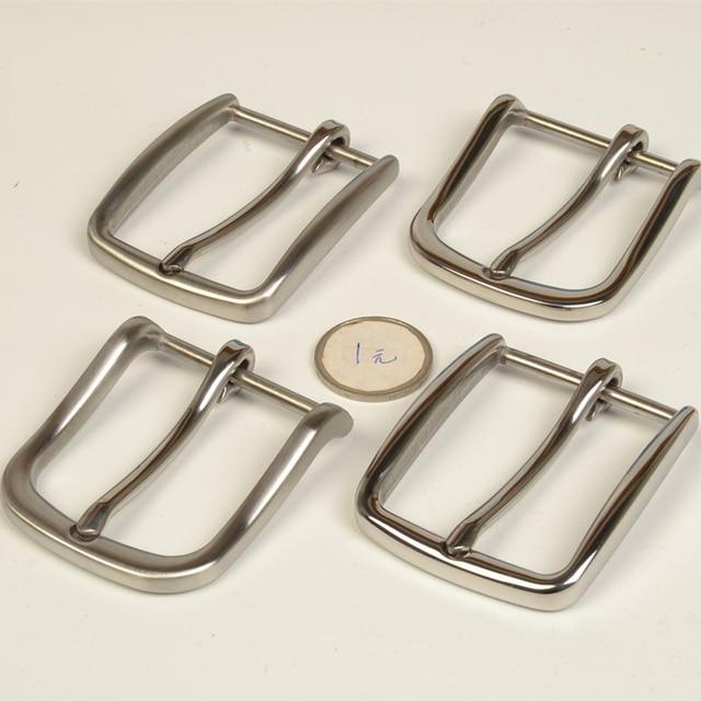 high quality solid stainless steel men DIY belt pin buckle 2pcs/lot slim edge