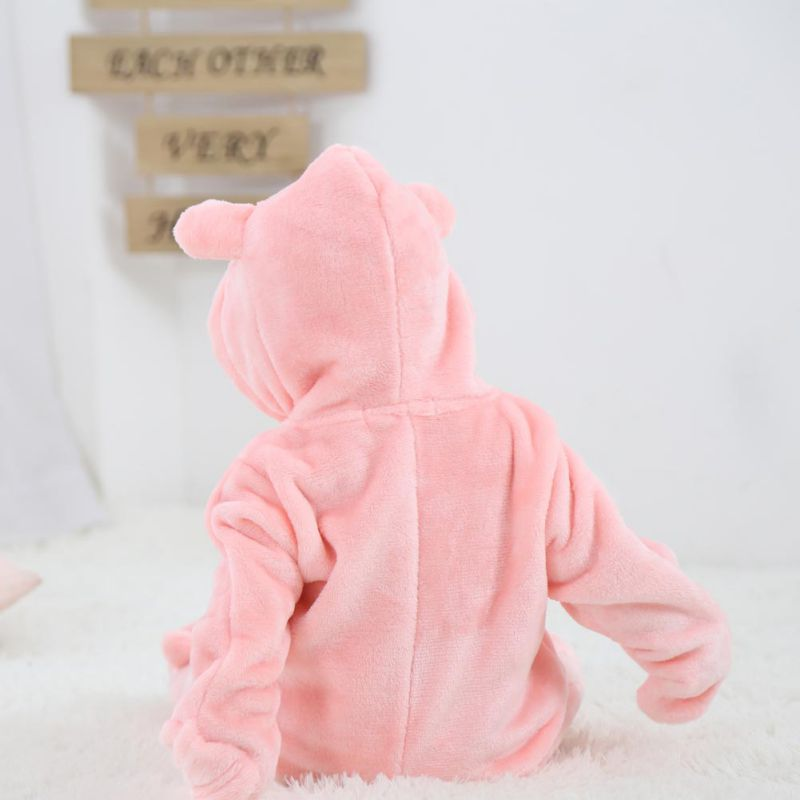 HTB1.LhseBKw3KVjSZFOq6yrDVXaY Baby Rompers Winter Warm Longsleeve Coral Fleece Newborn Baby Boy Girl Clothes Infant Jumpsuit Animal Overall Pajamas