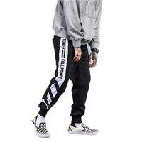 Men S Hip Hop Striped Joggers Sweatpants Patchwork Men Pants With Cuffs Autumn Winter Warm Cotton