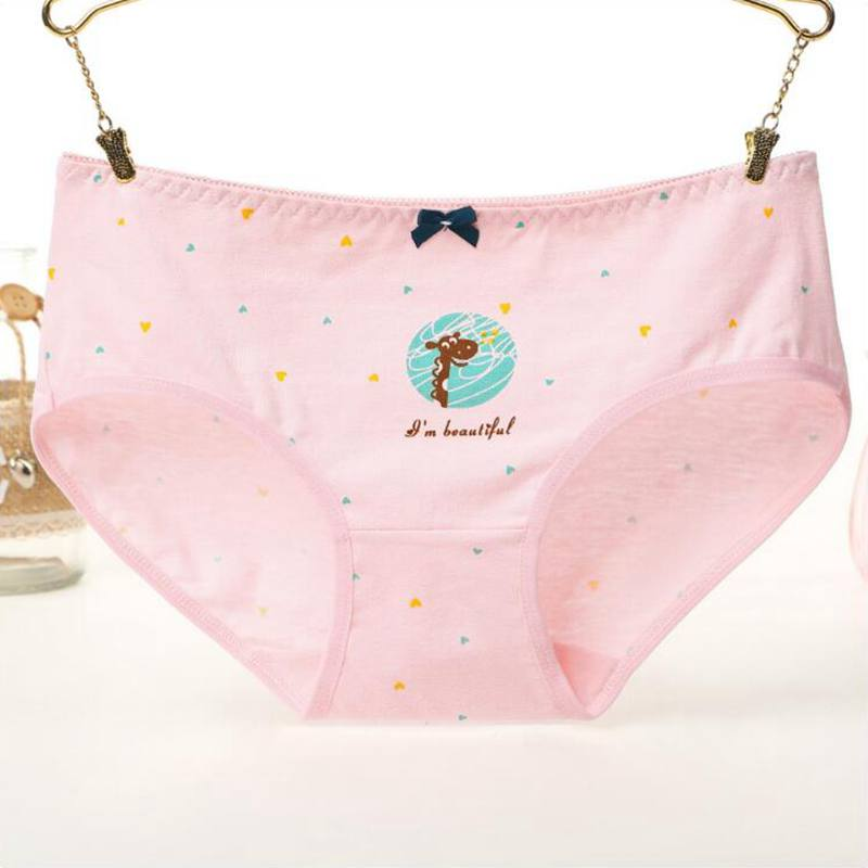 Girls Briefs Deer Stars Print Underwear Women Soft Panties Cotton Female Sexy Lingerie Underpants Woman Intimate Wholesale in women 39 s panties from Underwear amp Sleepwears