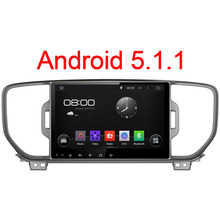1024*600 Android 5.1.1 Quad Core Fit KIA Sportage KX5 2016 Автомобиля DVD GPS Навигации Радио