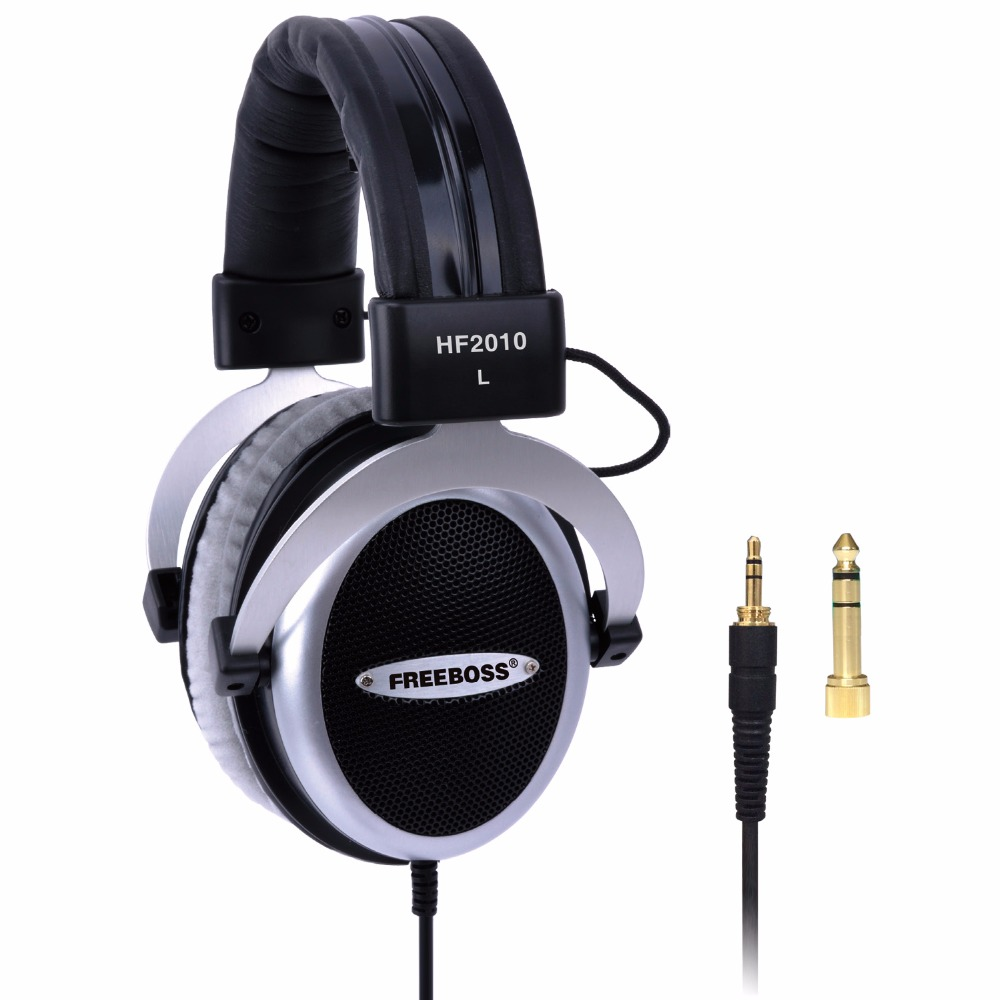 HF2010 Hi-Fi Headphone Semi-Open Over-ear 3.5 6.3 plug Adjustable and light weight headband hifi headset headphones