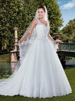 Vestido de novia V Neck Vintage Lace Off The Shoulder Sheer Lace Back Brides Plus Size Bridal Gown mother of the bride dresses