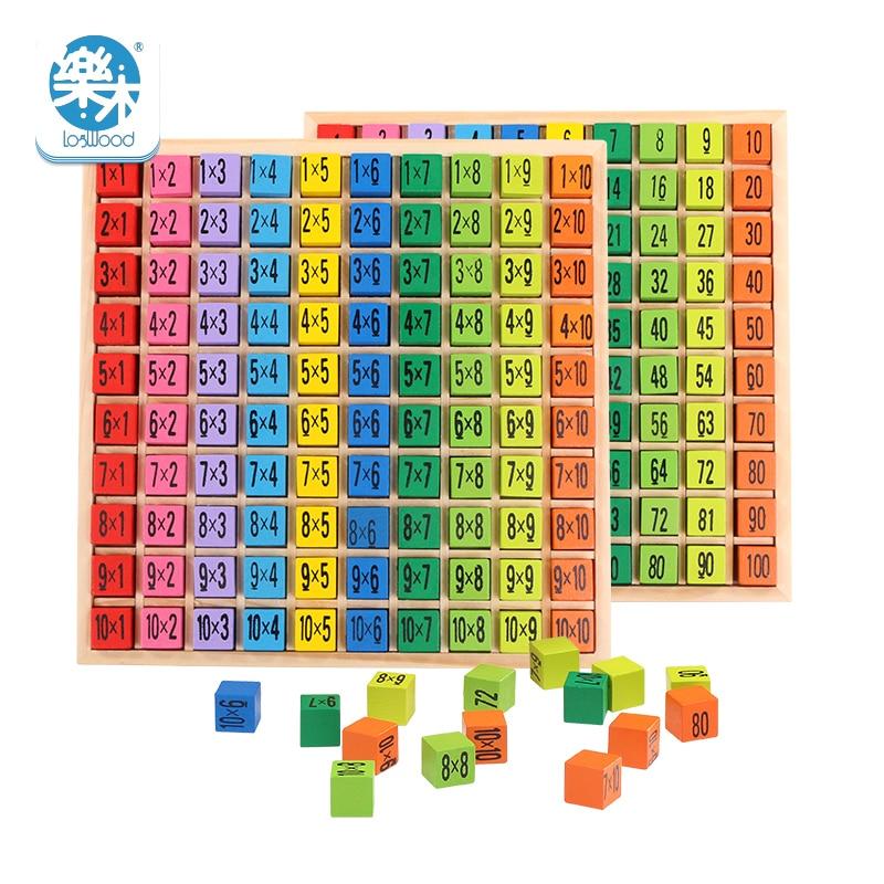 Մանկական փայտե Խաղալիքներ 99 Բազմապատկման Աղյուսակ Մաթեմատիկական Խաղալիք 10 * 10 Գծապատկեր Երեխա սովորում Կրթական montessori նվերներ անվճար առաքում