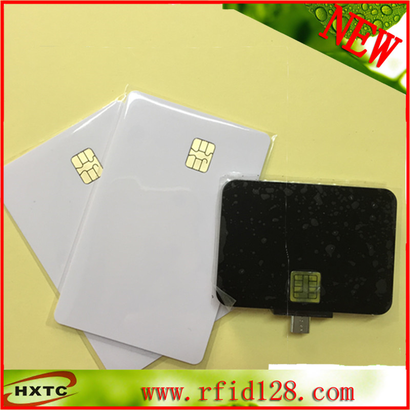 Portable EMV Micro USB OTG Smart IC Card Reader&Writer #N88 For Android Mobile Phones With 2PCS FM4442 Chip Cards&SDK programmer usb contact smart memory ic sim card reader writer acr38u spc r4 2 pcs sle4442 chip card sdk kit