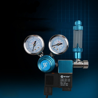 110 240V Stainless Steel Double Gauge Display Aquarium CO2 Regulator With Bubble Counter Check Valve Planted
