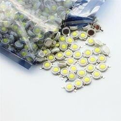10-1000 pces conduziram a microplaqueta 1 w 3 w 3.2-3.6 v da lâmpada da espiga entrada 100-220lm mini diodo smd do bulbo do diodo emissor de luz para diy conduziu o holofote downlight