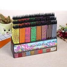 Lote de lápices de madera negra kawaii, 100 Uds., lápices para el colegio, materiales de escritura para oficina, lápiz HB con gomas de borrar