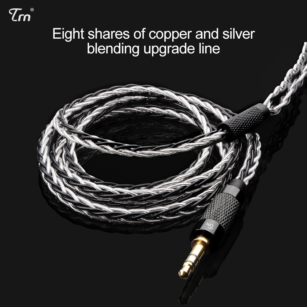 AK TRN 8 Core Verbesserte Silber Überzogene Kabel 3,5 MMCX Kopfhörer Upgrade Kabel für SE846 LZ A5 MAGAOSI HQ5 HQ6 HQ8